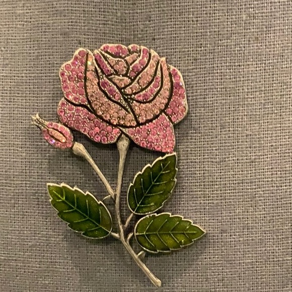 made in france Jewelry - BEAUTIFUL PINK ROSE BROOCH